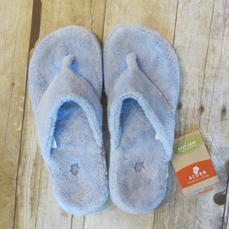 Acorn Periwinkle Thong Slipper 9.5-10.5 - Stonebriar Spa Frisco, TX