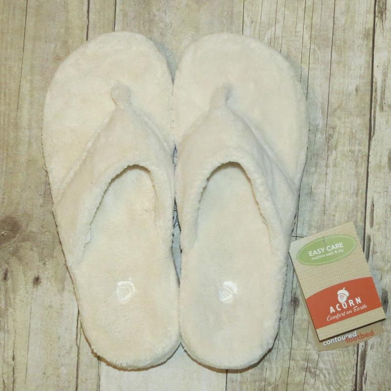 Acorn Cream Thong Slipper 11-12 - Stonebriar Spa Frisco, TX
