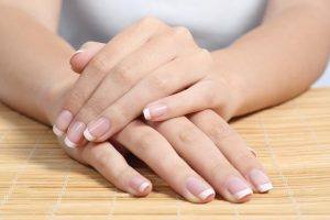 healthy nails with a french manicure