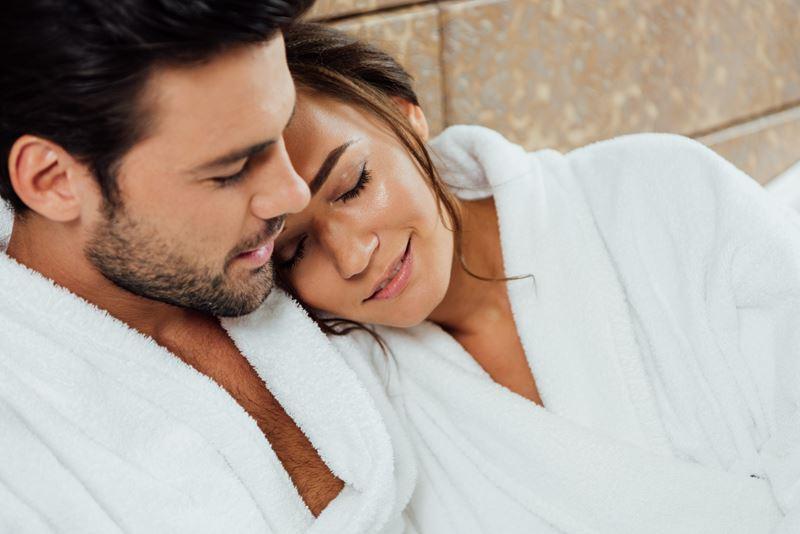 couple enjoying a spa visit