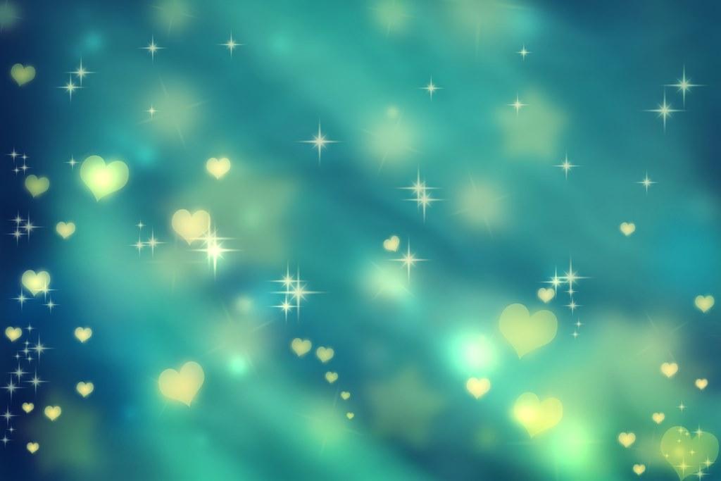 aqua hearts and stars