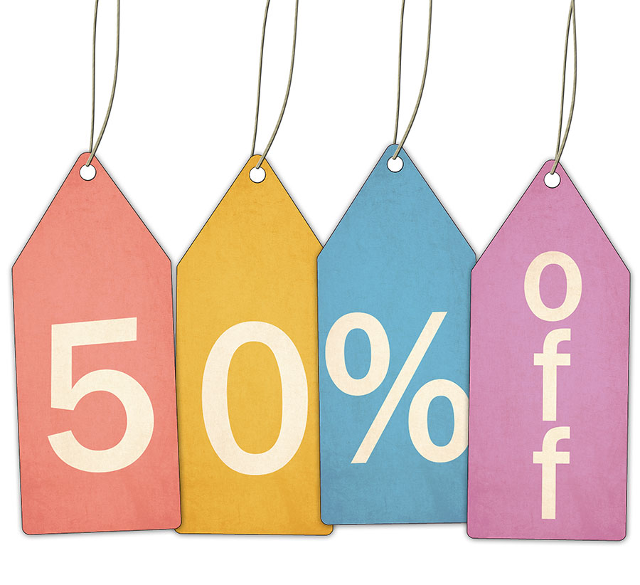 50% off all SALE items